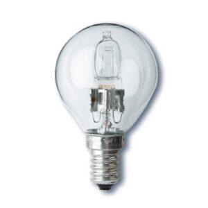 Halogenglødepære krone lille sokkel e14 20 watt 28 watt