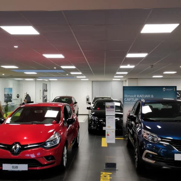 Led panel til butiksbelysning bilforhandler lav blænding 3000k 4000k