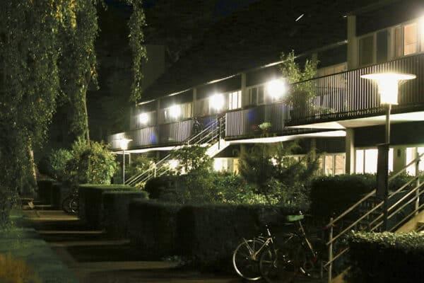 Led belysning til boligforening arkitekturperle