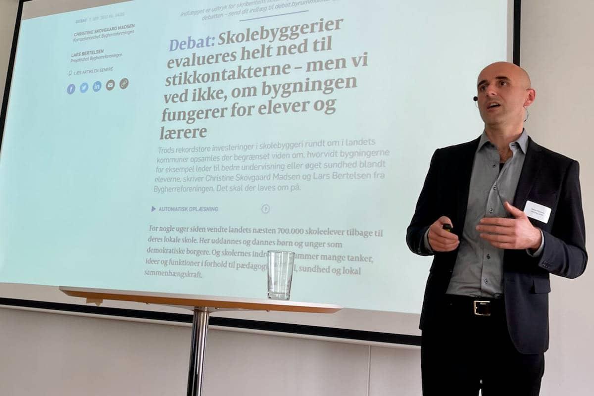 Det eneste vi ikke måler på i dansk byggeri er, hvordan bygningerne fungerer for mennesker, undrede lysdesigneren Vladan Paunovic sig over på Lysets Dag 2021.