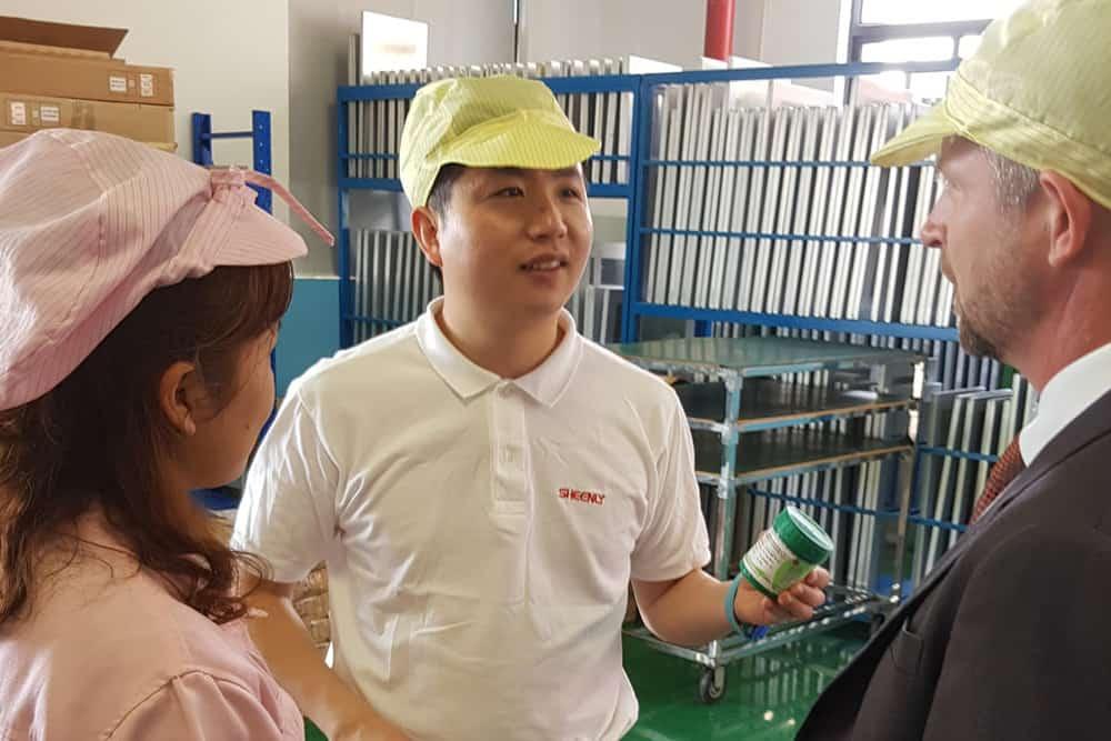 Quality made in china på besøg hos sheenly led paneler zou can